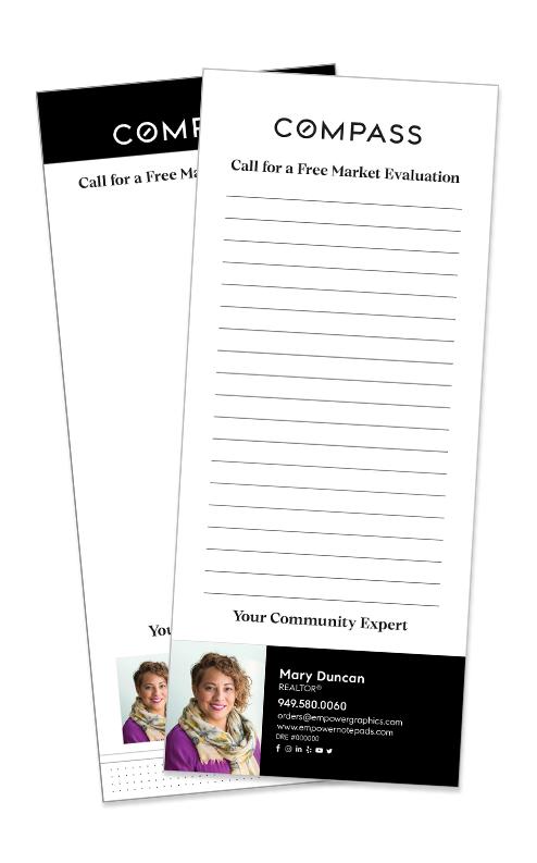 NEW 3.5 x 8.5 Compass Notepads
