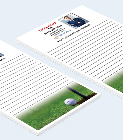Golf Themed Notepads [5.25 x 8.5 Notepads]