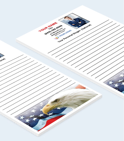 Patriotic Themed Notepads [5.25 x 8.5 Notepads]